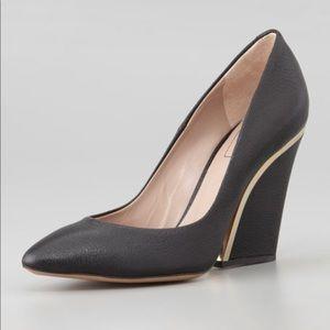CHLOE leather wedge heels